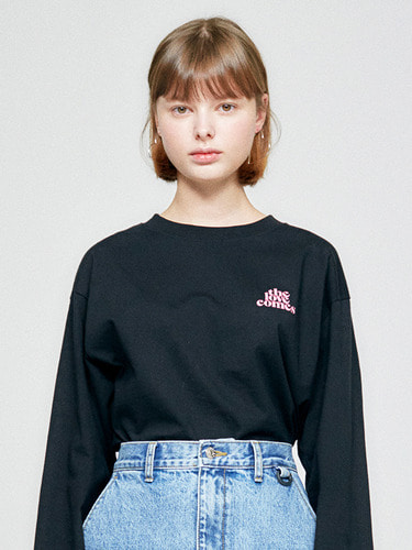 (10월 5일 예약배송)TLC LONG SLEEVE HA [BLACK]