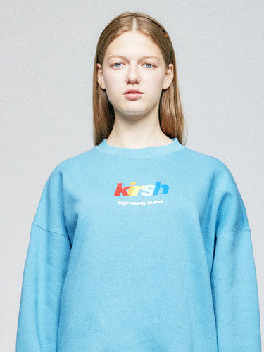 RAINBOW LOGO SWEATSHIRT HA  [BLUE]
