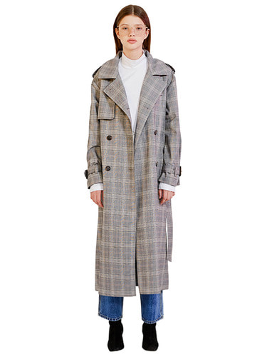 LONG TRENCH COAT HA [CHECK]