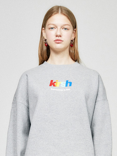 (10월 5일 예약배송)RAINBOW LOGO SWEATSHIRT HA  [GRAY]