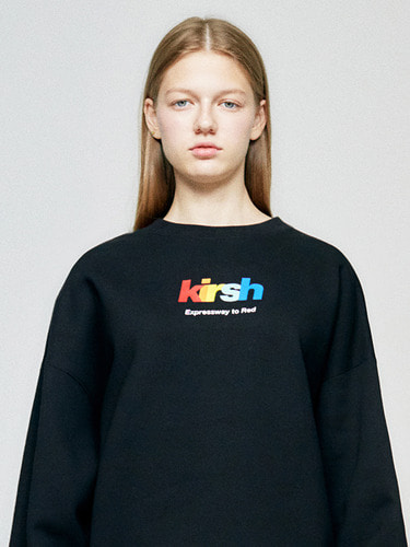 (10월 5일 예약배송)RAINBOW LOGO SWEATSHIRT HA  [BLACK]