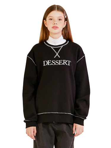 (10월 5일 예약배송)DESSERT STICH SWEATSHIRT HA [BLACK]