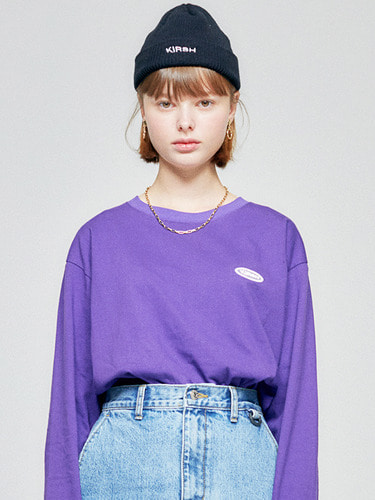 CIRCLE LOGO LONG SLEEVE HA [PURPLE]