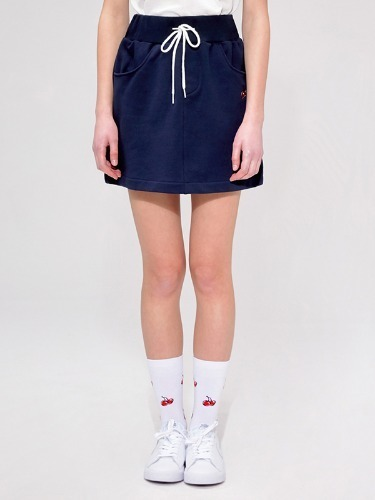 CHERRY BAND SKIRT IS [NAVY]