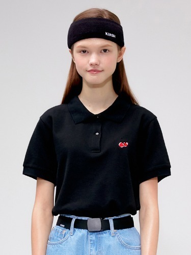 CHERRY PK T-SHIRTS IS [BLACK]
