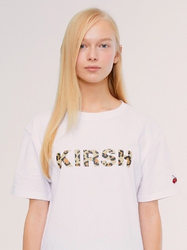 KIRSH LEOPARD LOGO T-SHIRT IS [WHITE]