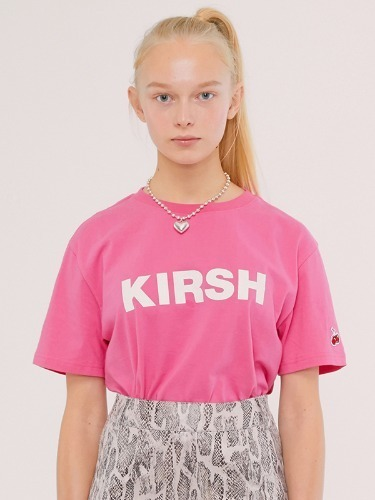 KIRSH LOGO T-SHIRTS IS [PINK]