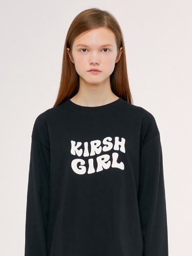 KIRSH GIRL LOGO TEE IS [BLACK]