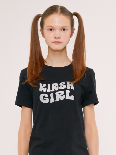 KIRSH GIRL GLITTER TEE IS [BLACK]