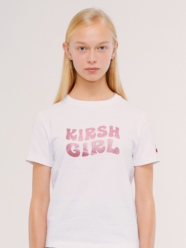 KIRSH GIRL GLITTER TEE IS [WHITE]
