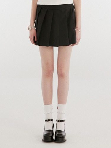 TENNIS SKIRT IH [BLACK]