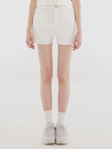 STITCH SHORTS IH [WHITE]