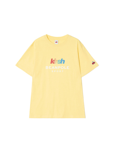 [BPS X KIRSH] GLITTER RAINBOW LOGO T-SHIRT [YELLOW]