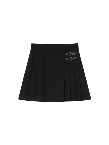 [BPS X KIRSH] HALF SKIRT IH [BLACK]