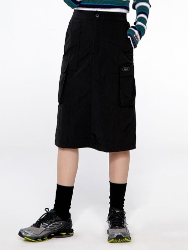 (9월17일 예약발송)POCKET MIDI SKIRT IA [BLACK]