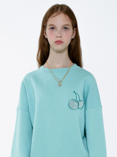 CHERRY TONE ON TONE SWEATSHIRT IA [MINT]