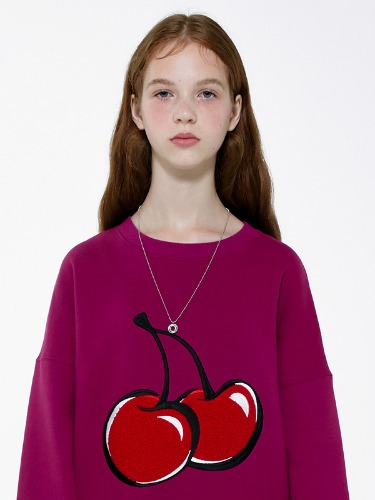 BIG CHERRY SWEATSHIRT IA [VIOLET]
