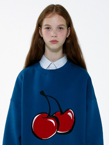 BIG CHERRY SWEATSHIRT IA [BLUE]