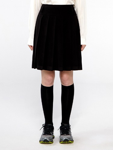 TENNIS MIDI SKIRT IA [BLACK]