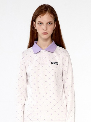LOGO PATTERN COLLAR TEE IA [CREAM]