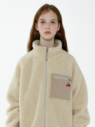 CHERRY BEAR JACKET IA [BEIGE]