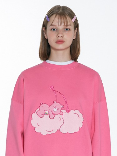 (11월22일 예약발송)CARE BEAR CHERRY-CLOUD SWEAT SHIRT [PINK]