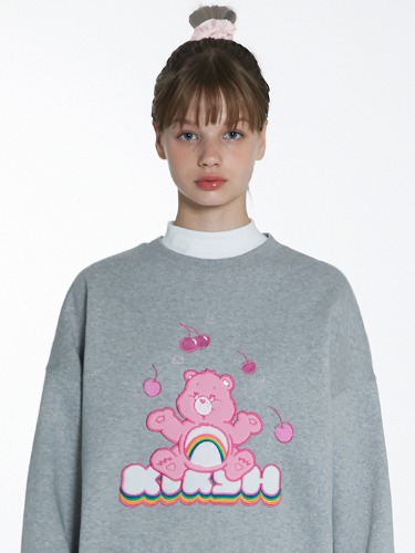(11월22일 예약발송)CARE BEAR RAINBOW SWEAT SHIRT [MELANGE GRAY]