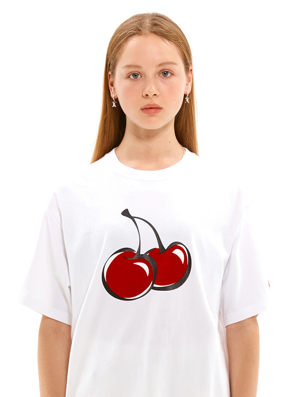 (7월9일 예약발송)BIG CHERRY T-SHIRTS JS [WHITE]
