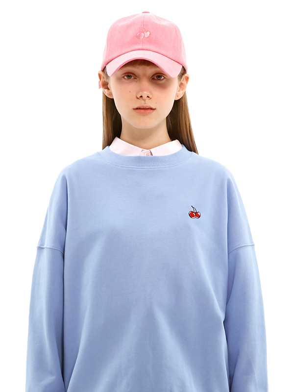 SMALL CHERRY SWEATSHIRT JS [BLUE]