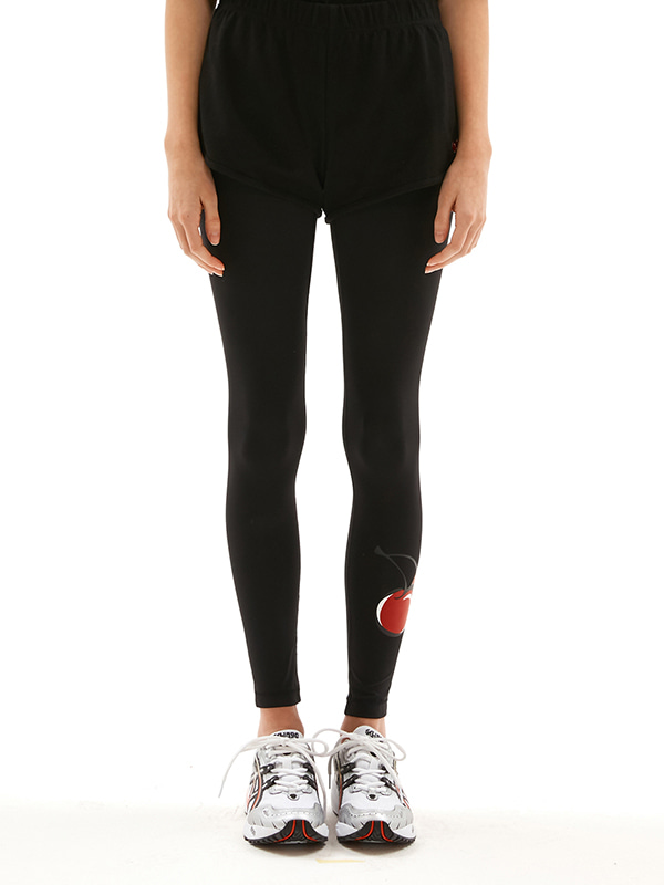 (3월2일 예약발송) KIRSH CHERRY LEGGINGS JS [BLACK]
