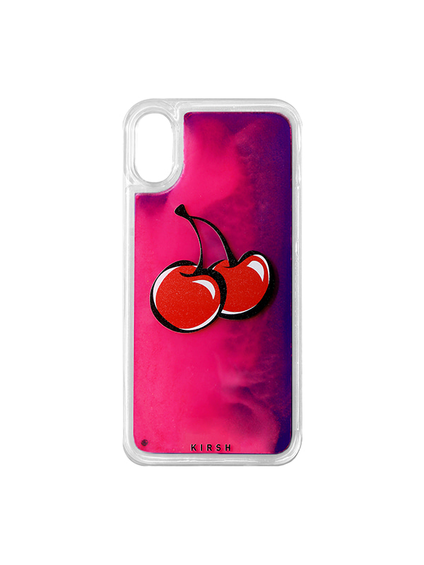 (1월31일 예약발송)BIG CHERRY GRADATION WATER IPHONE CASE JS [VIOLET]
