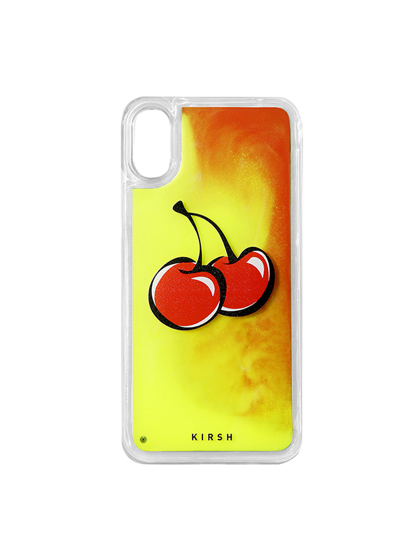 (1월31일 예약발송)BIG CHERRY GRADATION WATER IPHONE CASE JS [ORANGE]