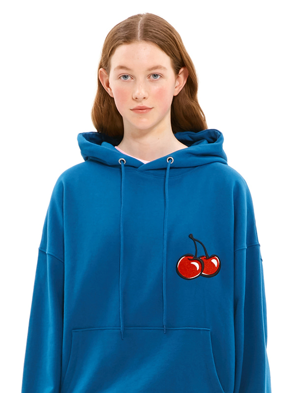 MIDDLE CHERRY HOODIE JS [INDIGO BLUE]