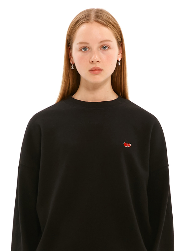 SMALL CHERRY SWEATSHIRT JS [BLACK]