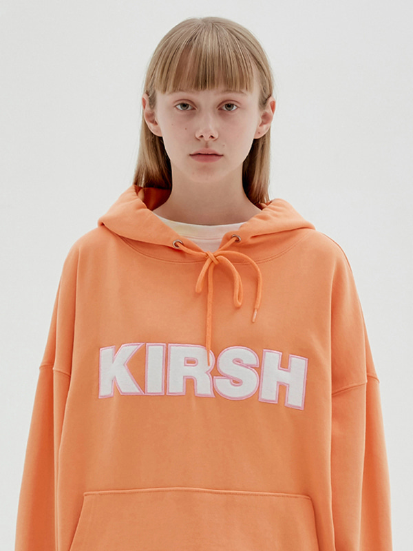 KIRSH LOGO HOODIE JS [LIGHT ORANGE]