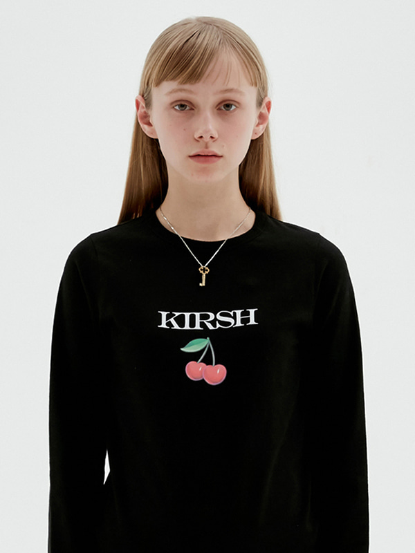 KIRSH 3D CHERRY TEE JS [BLACK]
