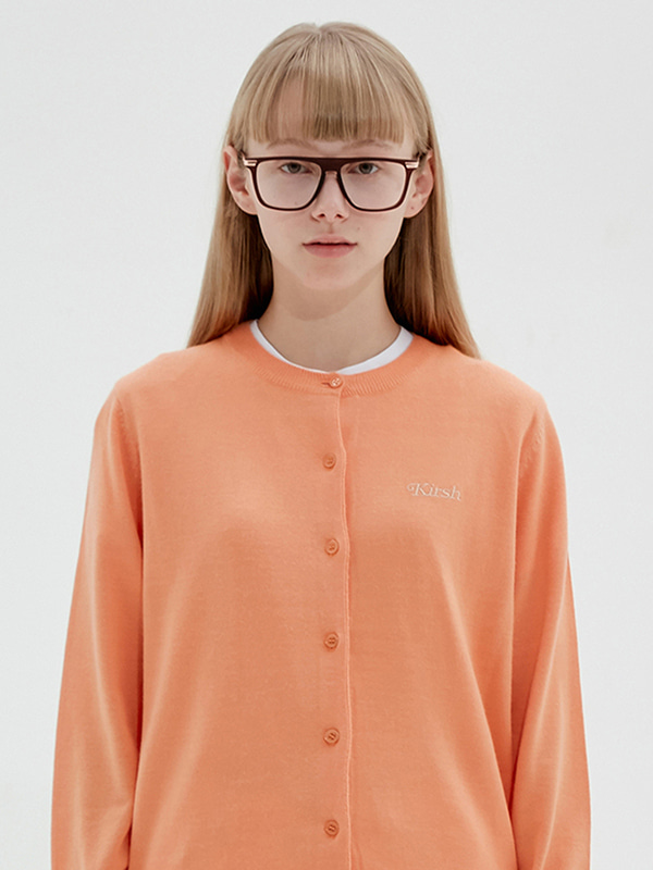 KIRSH ROUND CARDIGAN JS [LIGHT ORANGE]