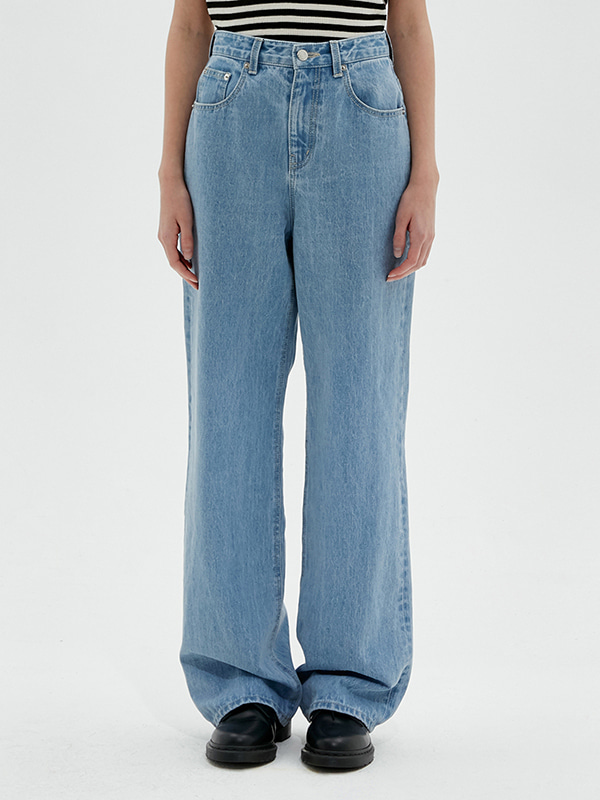 KIRSH WIDE DENIM PANTS JS [BLUE]