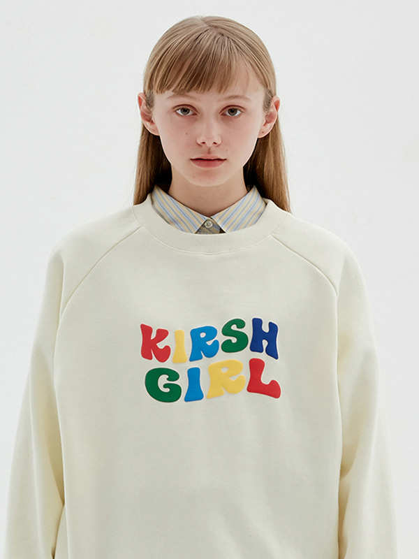 KIRSH GIRL LOGO SWEATSHIRTS JS [CREAM]