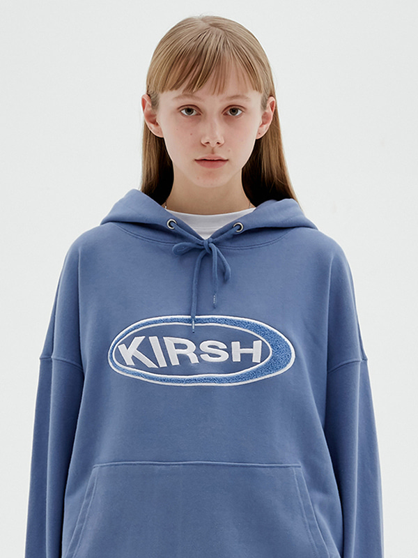 KIRSH CIRCLE LOGO HOODIE JS [LIGHT BLUE]
