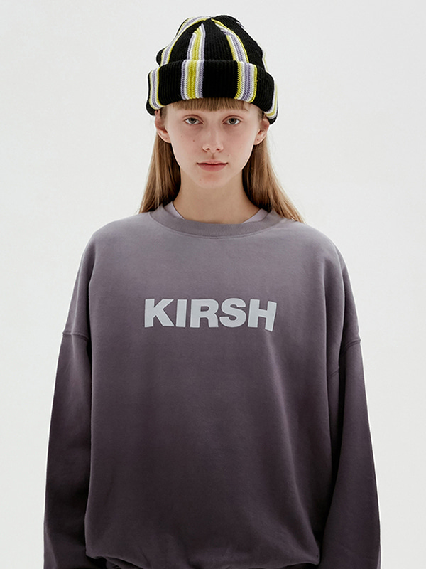 KIRSH LOGO GRADATION SWEATSHIRT JS [CHARCOAL GRAY] W