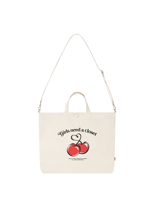 [KIRSH X RMTC] CHERRY CROSS BAG [IVORY]