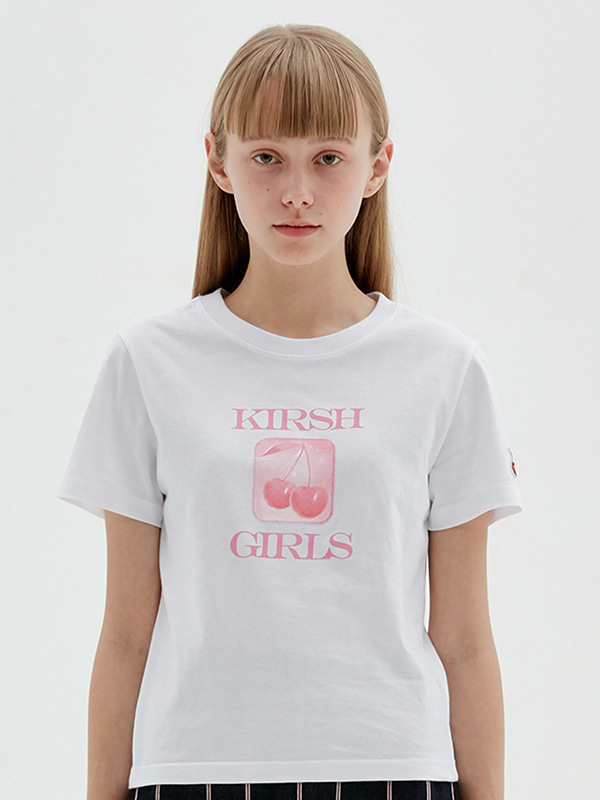 KIRSH GIRL GRAPHIC TEE JS [WHITE]