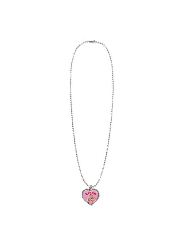 CARE BEAR HEART PENDANT NECKLACE [PINK]