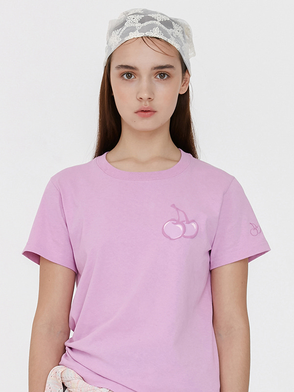 TONE ON TONE MIDDLE CHERRY T-SHIRT JH [PINK]