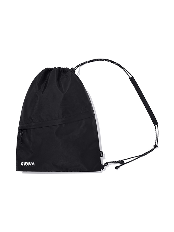 KIRSH POCKET STRING GYM BAG JH [BLACK]