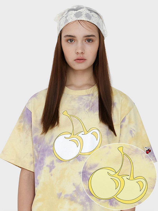 TIE DYE HEAT SENSING T-SHIRT JH [YELLOW]
