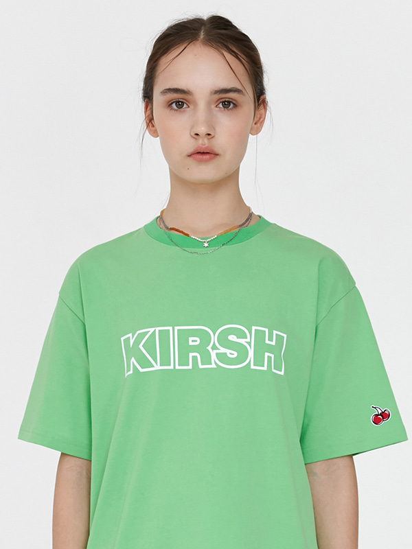 KIRSH OUTLINE LOGO T-SHIRT JH [GREEN]