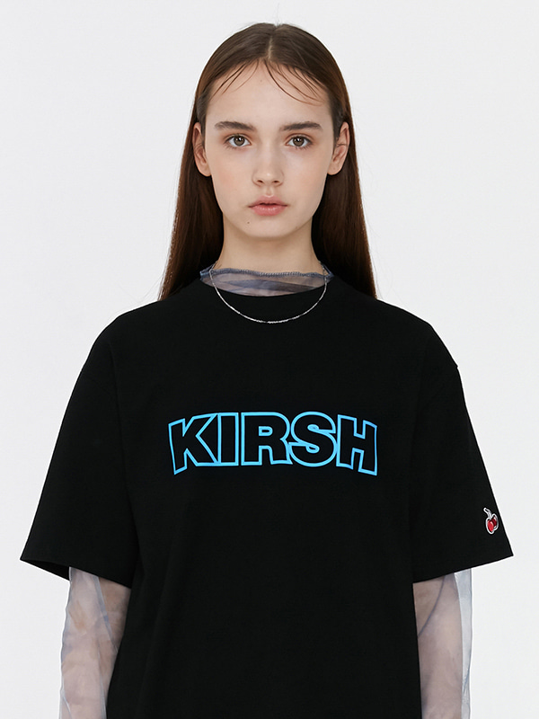 KIRSH OUTLINE LOGO T-SHIRT JH [BLACK]