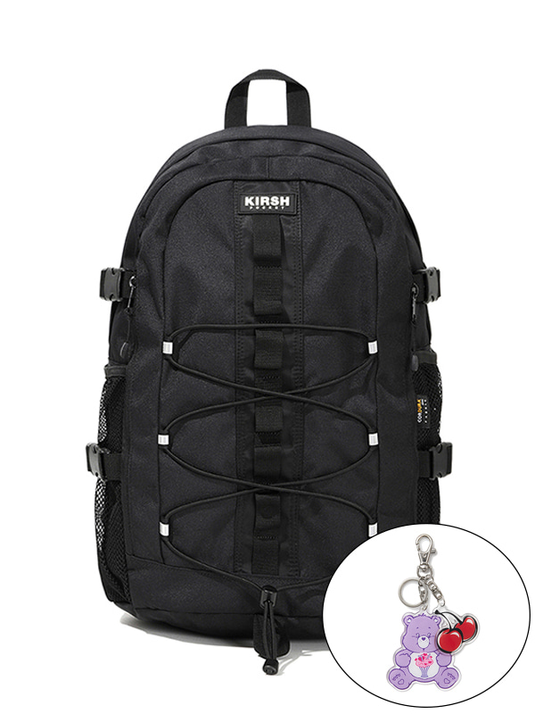 KIRSH POCKET STRING BACKPACK JS [BLACK]